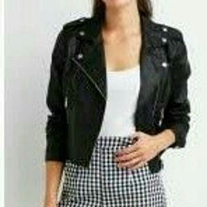 EUC Charlotte Russe Faux Leather Moto Jacket M